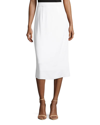 Lined Straight Pull-On Skirt, Plus Size