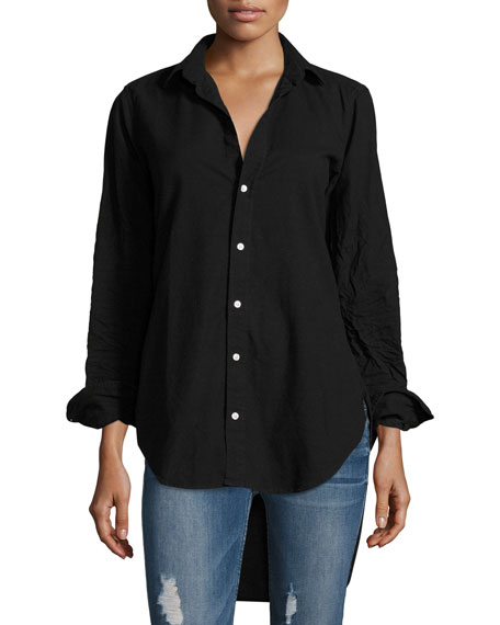 Frank & Eileen Grayson Button-Front Long-Sleeve Cotton Shirt