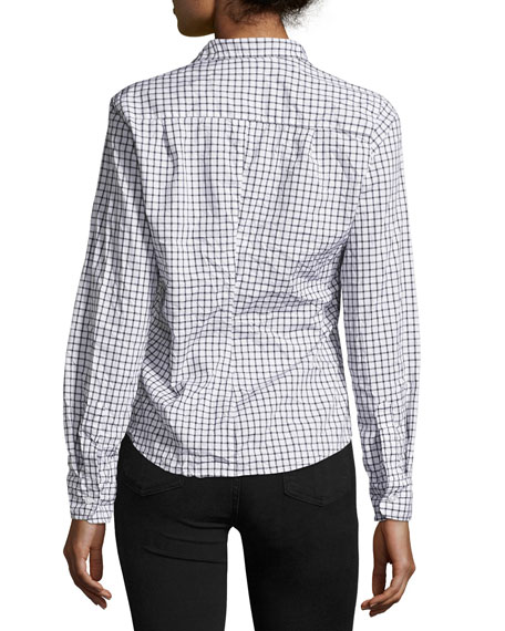 Barry Long-Sleeve Check Button-Down Shirt