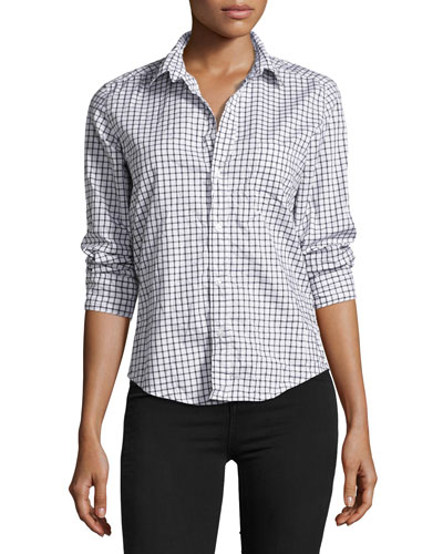 Barry Long-Sleeve Check Button-Down Shirt