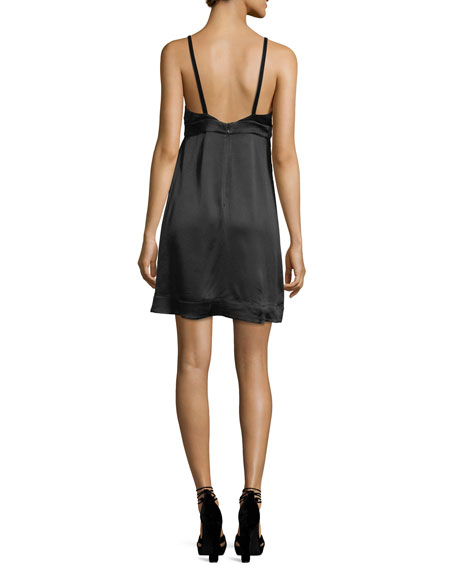 Bianka Sweetheart-Neck Sleeveless Satin Mini Dress