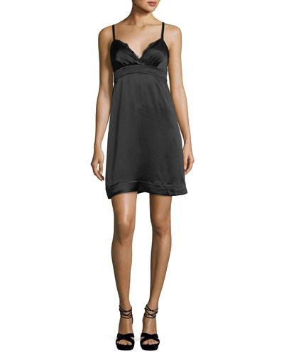 Bianka Sweetheart-Neck Sleeveless Satin Mini Dress
