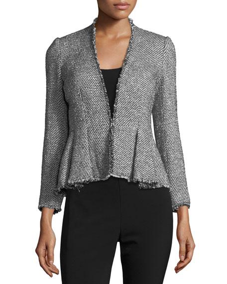 Rebecca Taylor Metallic Tweed Peplum Jacket