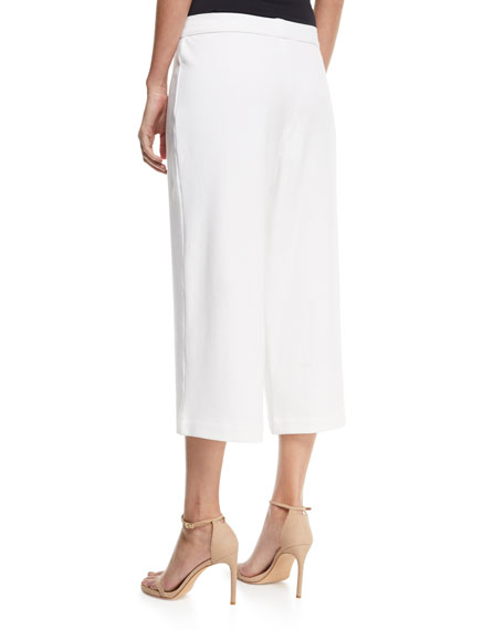 Cropped Wide-Leg Pants, Petite