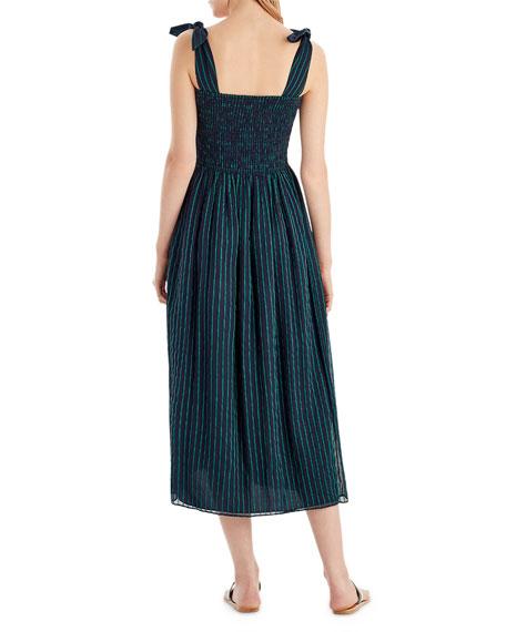 Striped Chiffon Sleeveless Dress