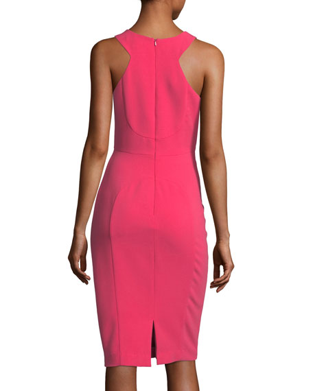 McGowen Sleeveless V-Neck Cocktail Sheath Dress