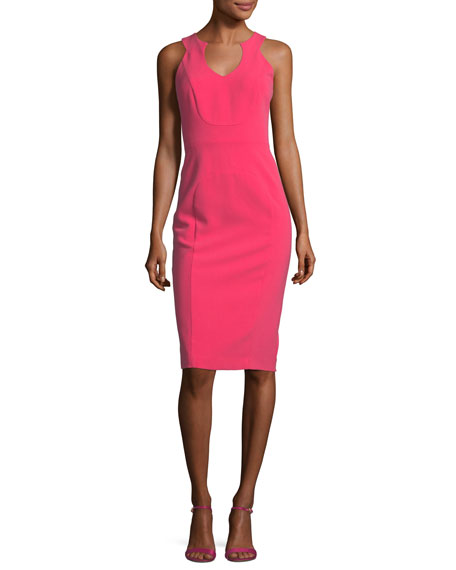 Black Halo McGowen Sleeveless V-Neck Cocktail Sheath Dress