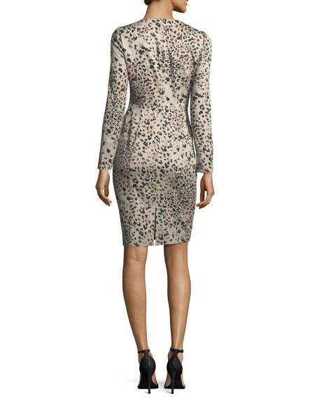 Lively Long-Sleeve Animal-Print Dress