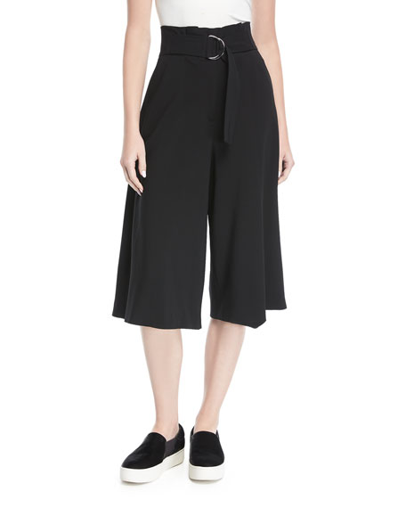A.L.C. Jayden High-Waist Wide-Leg Crepe Pants