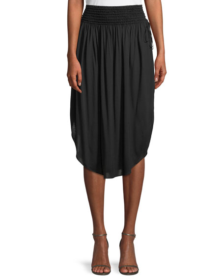 Halston Heritage Ruched Knee-Length Skirt