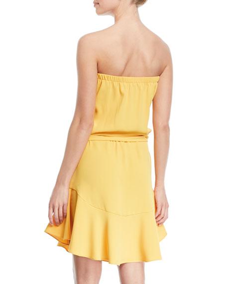Strapless Mini Dress w/ Flounce Skirt