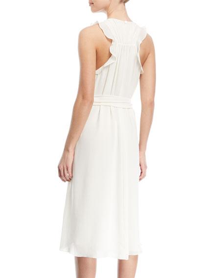 Self-Tie High-Low Sleeveless Dress