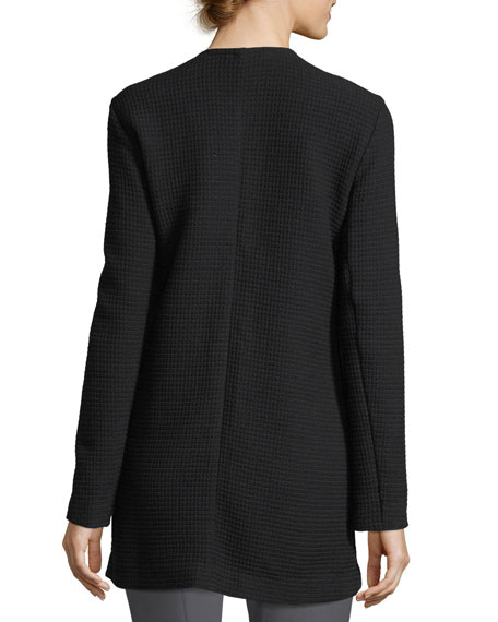 Geometry Textured Jacket, Plus Size