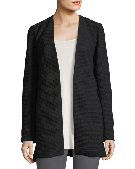 Eileen Fisher Geometry Textured Jacket, Plus Size