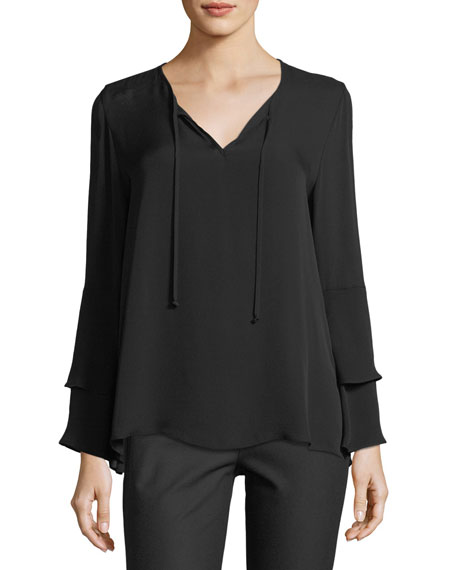Marnie V-Neck Silk Blouse