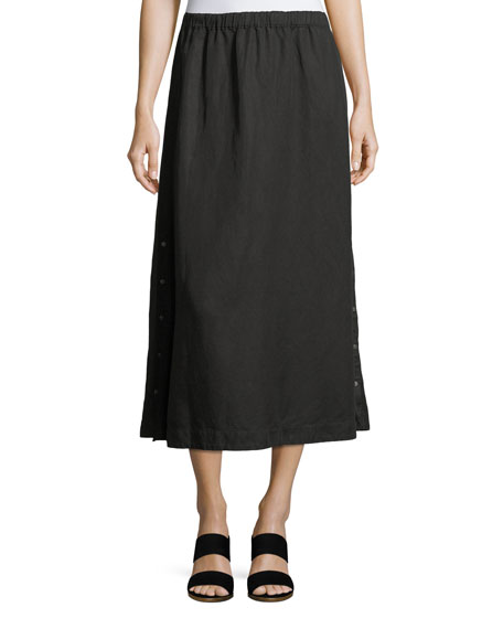 Eileen Fisher Tencel?? Linen Midi Skirt