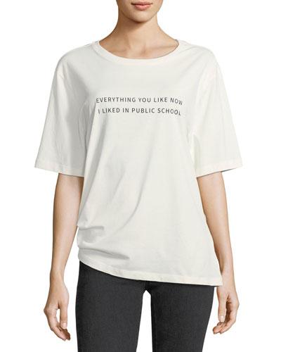 Everything I Like Crewneck Cotton T-Shirt