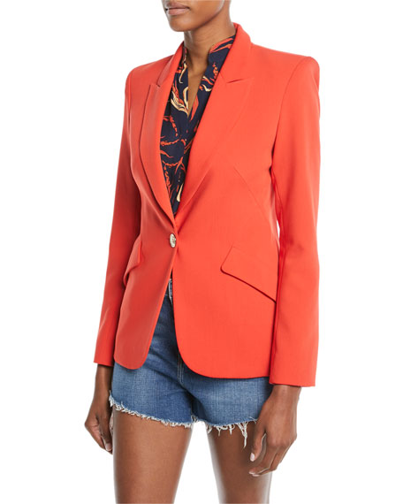 L'Agence The Chamberlain One-Button Blazer