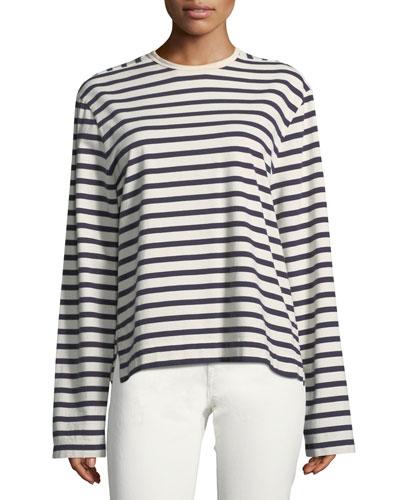 Striped Long-Sleeve Breton T-Shirt