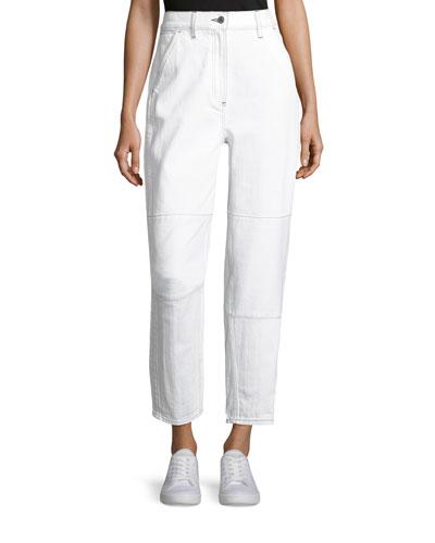 Pamela Straight-Leg Denim Jeans
