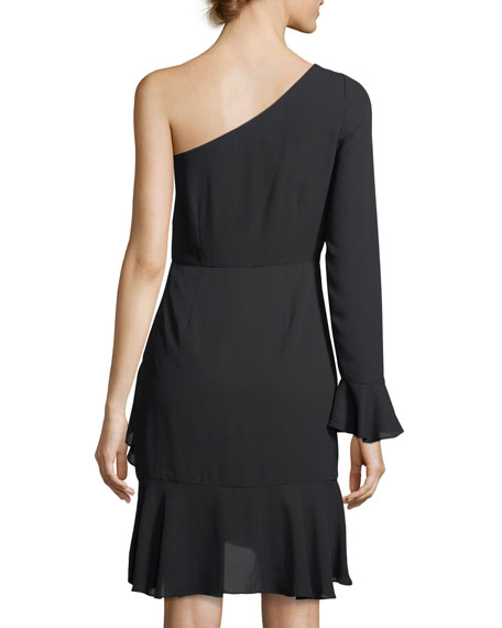 Remington One-Shoulder A-Line Cocktail Dress