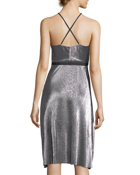 Dixon Halter Sleeveless Fit-and-Flare Cocktail Dress