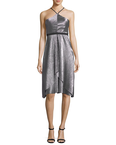 Likely Dixon Halter Sleeveless Fit-and-Flare Cocktail Dress