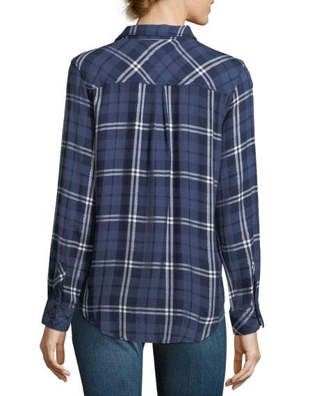Hunter Button-Down Long-Sleeve Plaid Shirt