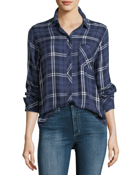 Rails Hunter Button-Down Long-Sleeve Plaid Shirt