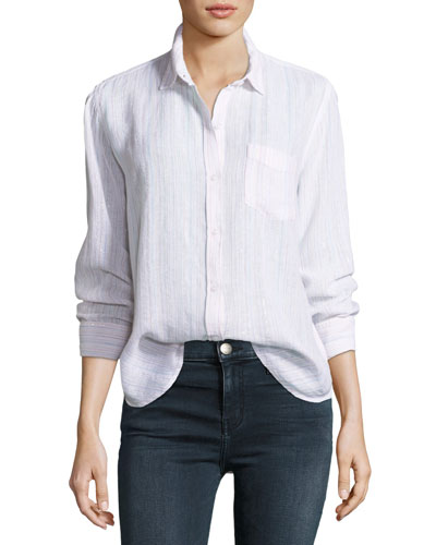 Charli Button-Down Linen-Blend Shirt