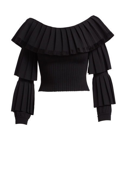 Baile Off-the-Shoulder Knit Top
