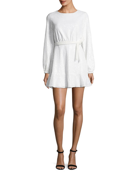 JAY X JAYGODFREY Aria Long-Sleeve Sequin Mini Dress