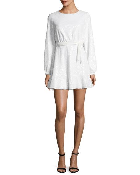 JAY X JAYGODFREY Aria Long-Sleeve Sequin Mini Dress