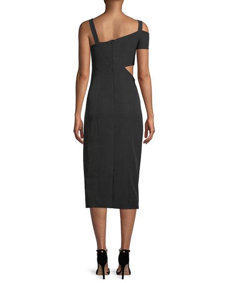 Marquette Cutout Asymmetric Cocktail Dress