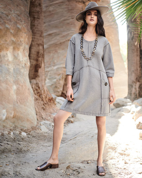 Palma French Terry Cotton Dress, Plus Size