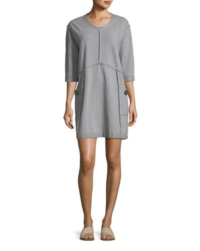 Palma French Terry Cotton Dress
