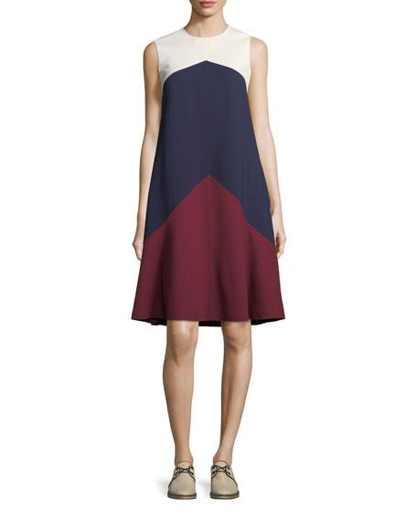 Willa Colorblock Trapeze Sleeveless Dress