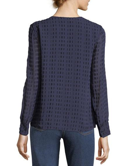 Grace Long-Sleeve Silk-Blend Top