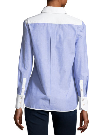 Piper Contrast Long-Sleeve Shirt