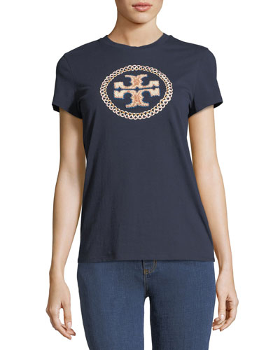 Maya Embellished-Logo T-Shirt