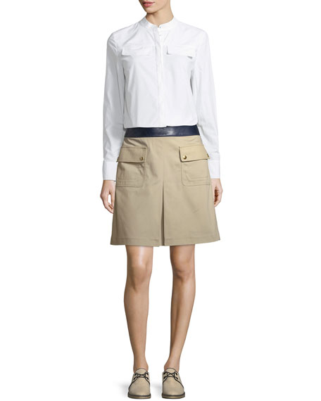Joss Pocket-Front Canvas Skirt