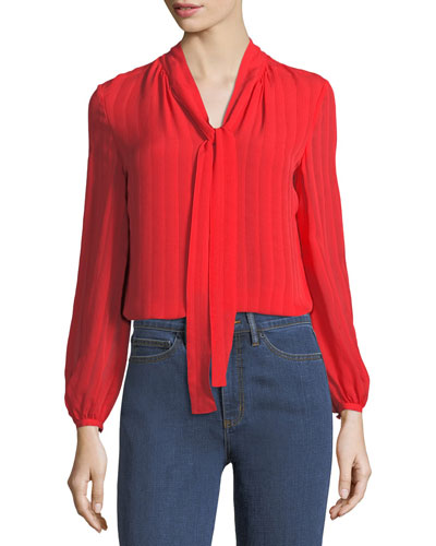 Emma Self-Tie Bow Blouse