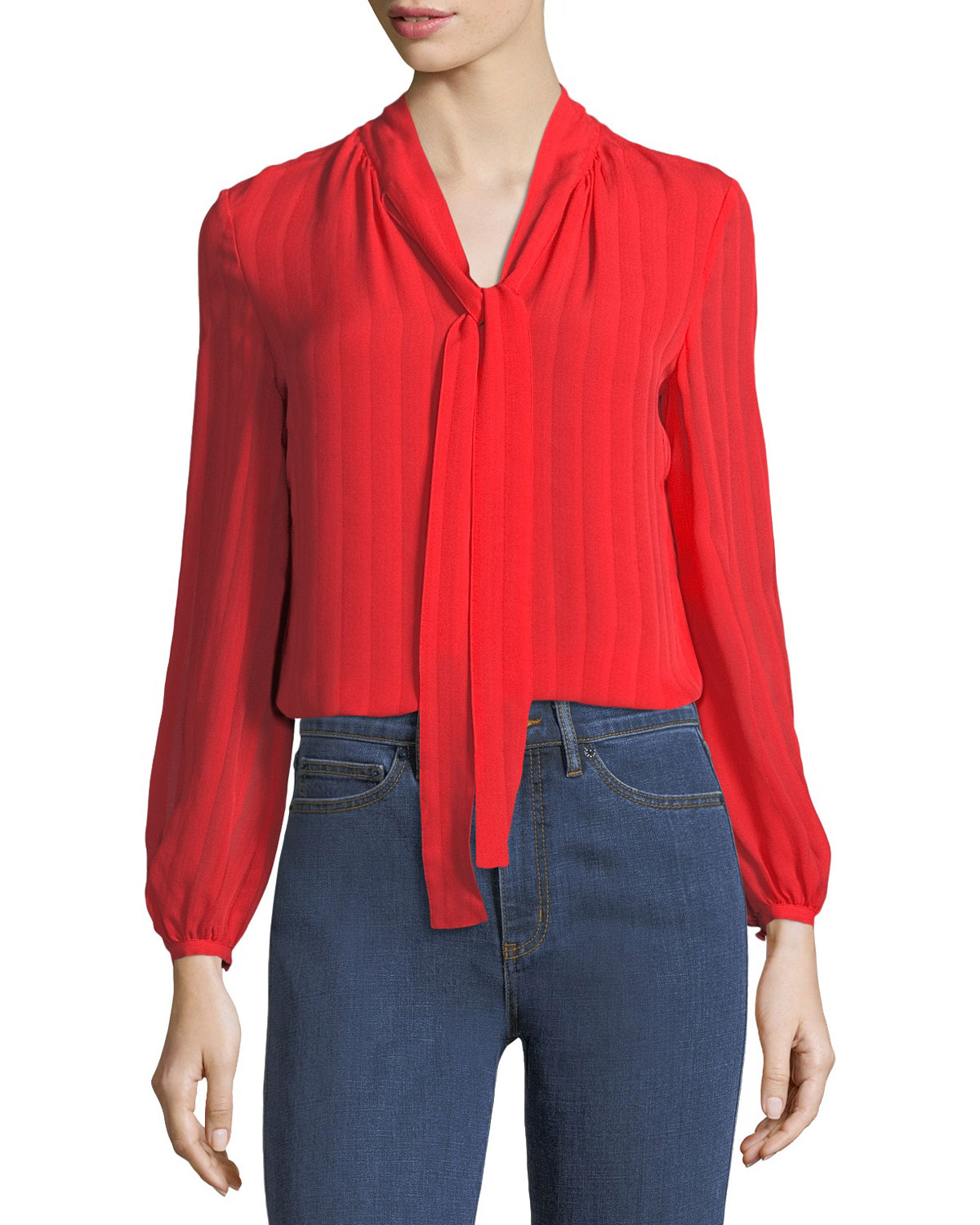 44a6f5d4fafd Tory Burch Emma Self-Tie Bow Blouse