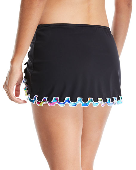 Serendipity Ruched Skirt Swim Bottom, Plus Size