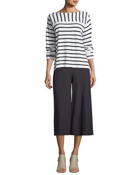 Crepe Culottes w/ Yoke, Plus Size