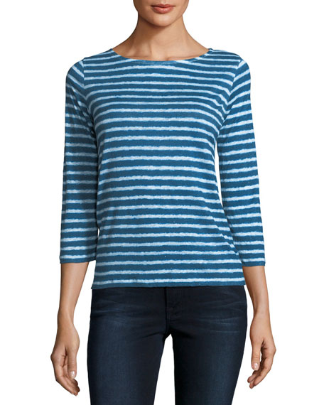 Majestic Paris for Neiman Marcus Button-Back Dyed Striped