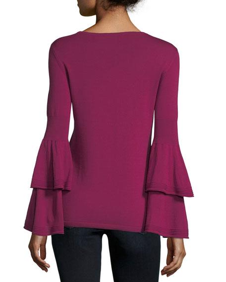 Alicia Bell-Sleeve Extrafine Merino Sweater
