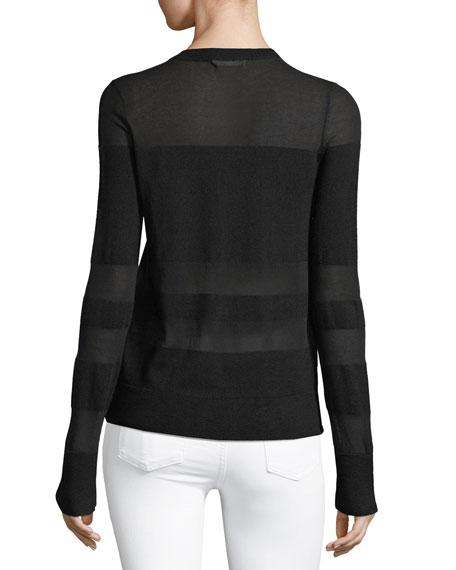 Vivi Crewneck Long-Sleeve Striped Sweater