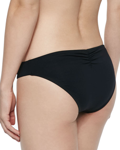 Monique Ruched-Side Swim Bottom