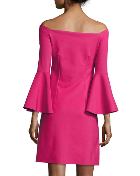 Nana Off-the-Shoulder Jersey Cocktail Dress